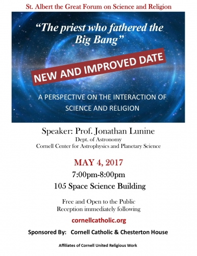 The priest who fathered the Big Bang - Rescheduled